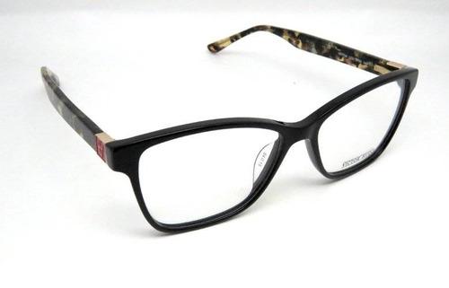 cbc015e83e975 Óculos De Grau Victor Hugo Vh1724 Acetato Preto - R  826