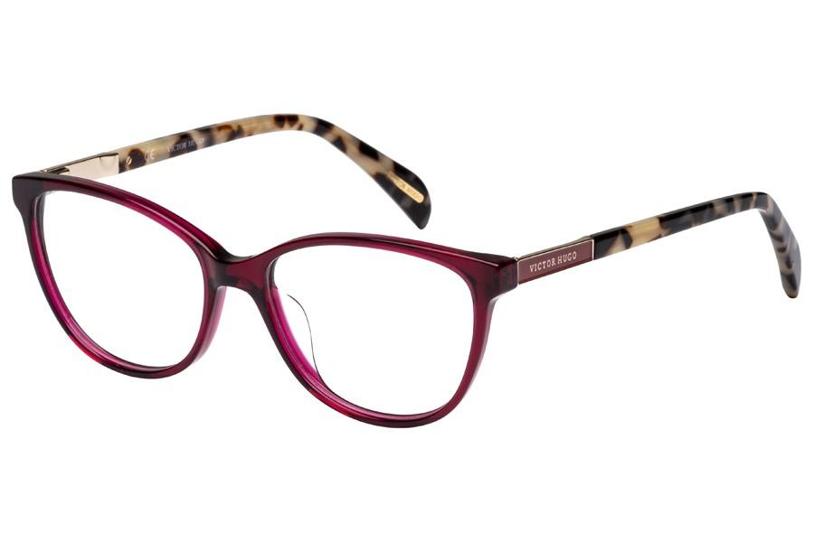 d53adc8a5e856 Descrição. Óculos de Grau Victor Hugo VH1758 09HG 53 Vinho Transparente  Mesclado ...