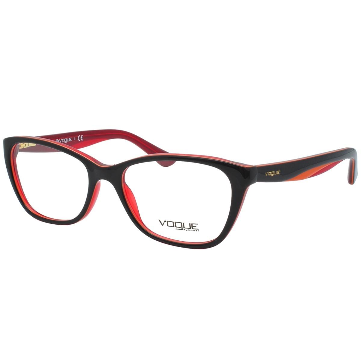 72ee3246ab5cf óculos de grau vogue feminino vo2961 2312 - acetato vermelho. Carregando  zoom.