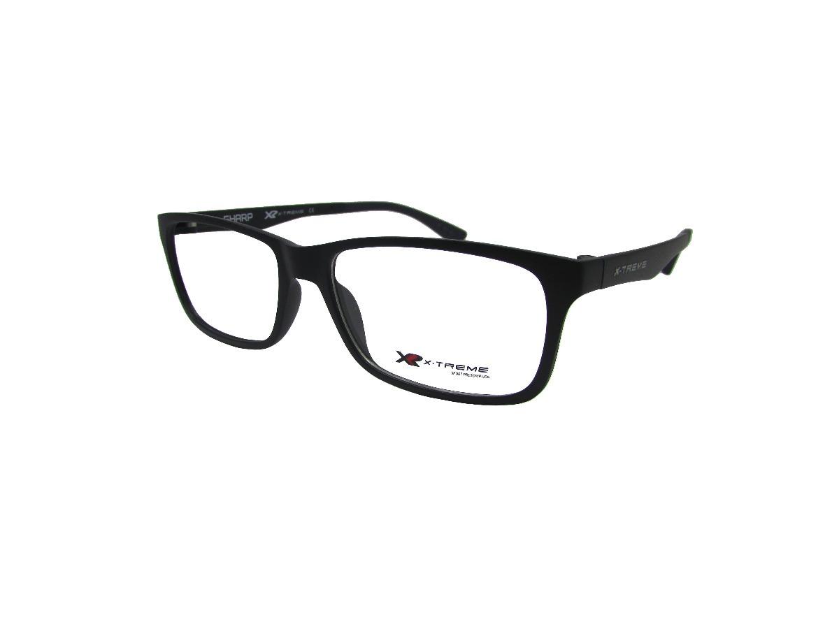 7e5659df8 Óculos De Grau X-treme Sharp Preto Fosco E Azul Escuro Aceta - R ...