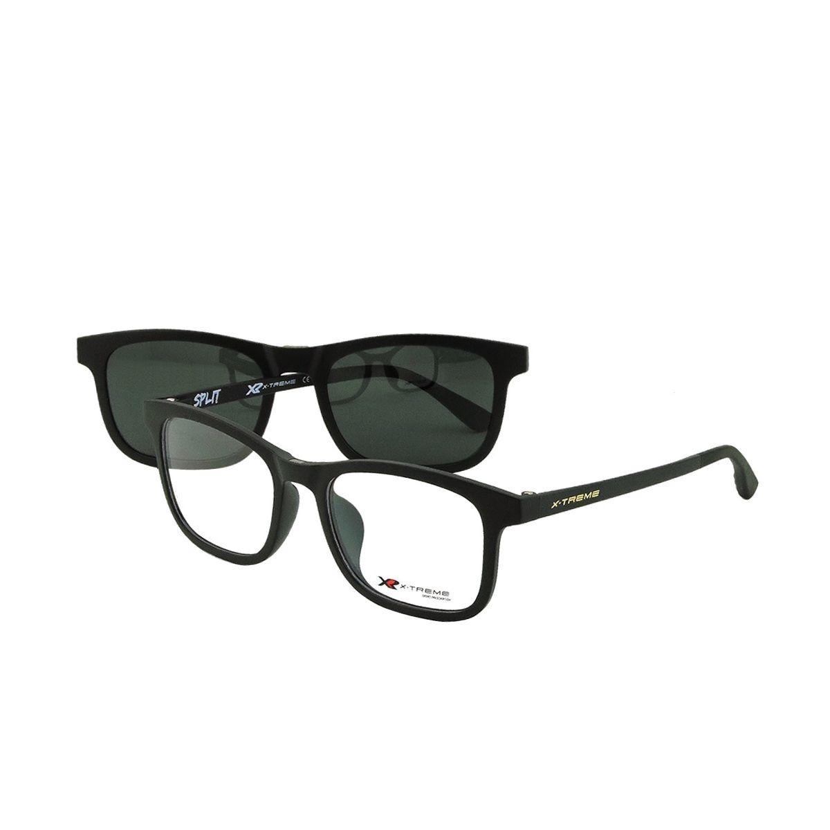 Óculos De Grau X-treme Split Clipon Preto Fosco - R  349,99 em ... 53c8d5b475