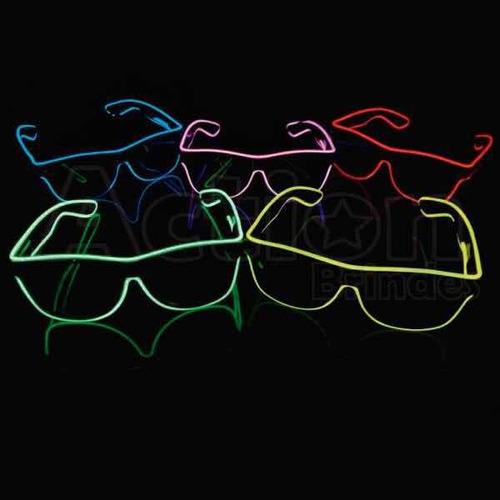 óculos de led para festa e dj com pilhas