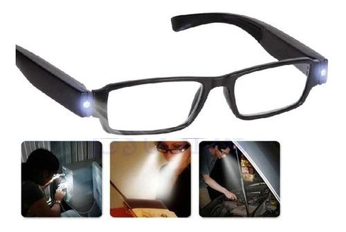 oculos de leitura led iluminado grau + 2.0 armacao unissex