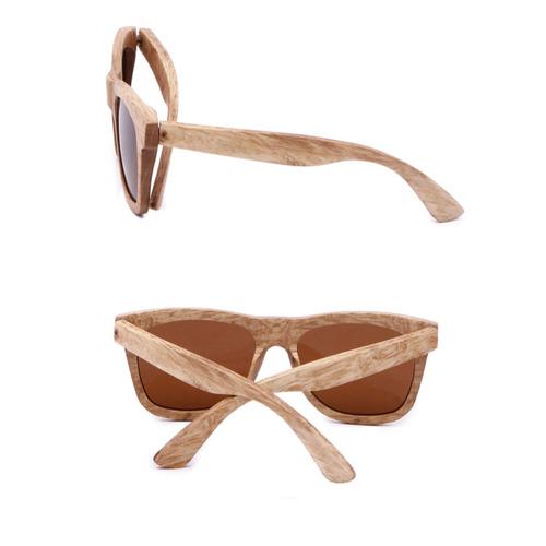 6d64920b1 óculos de madeira com lente polarizada espelhado castanho. Carregando zoom.