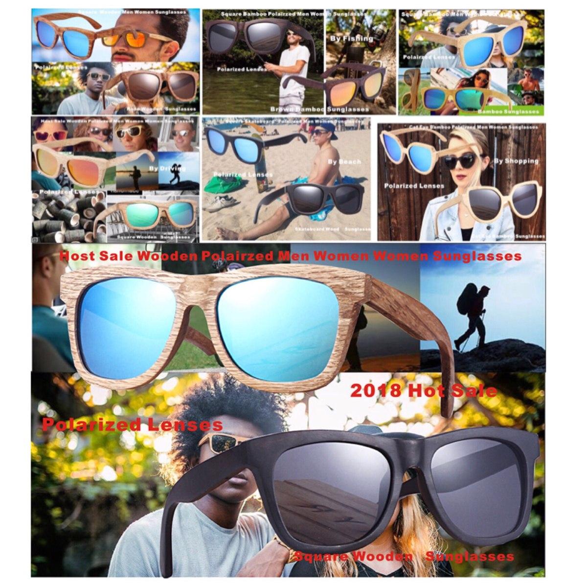 473321372 Óculos De Madeira Com Lente Polarizada Espelhado Castanho - R$ 249 ...