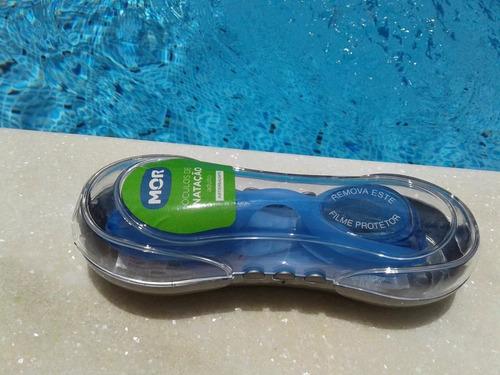 óculos de natação adulto antiembaçante c/ estojo mor