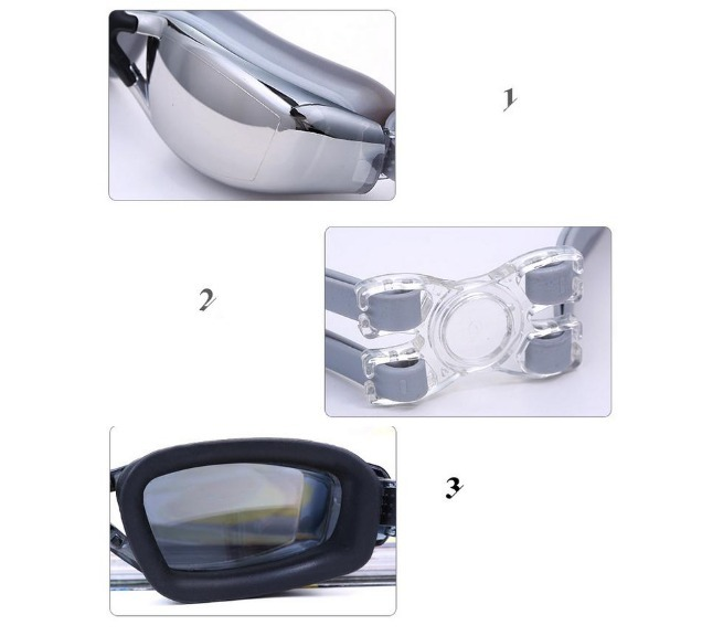 Óculos De Natação Alta Qualidade Lentes Policarbonato Ajust - R  39 ... 5460ae82cf