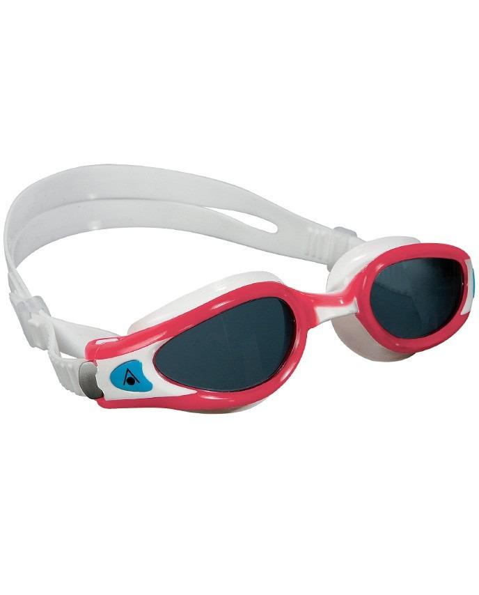53c0fa1af Óculos De Natação Aqua Sphere Kaiman Exo Lady Branco   Rosa - R  129 ...
