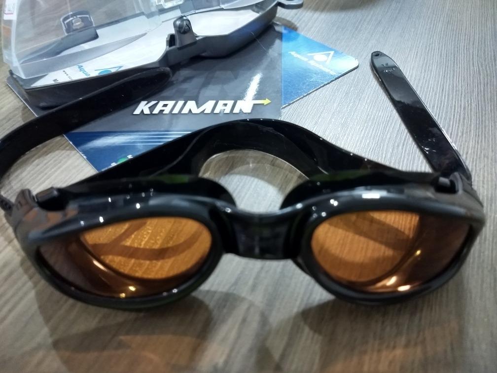 Oculos De Natação Kaiman Preto Lente Âmbar - R  119,00 em Mercado Livre ccfa14b78f