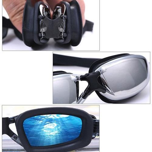 óculos de natação profissional antiembaçante + protetores
