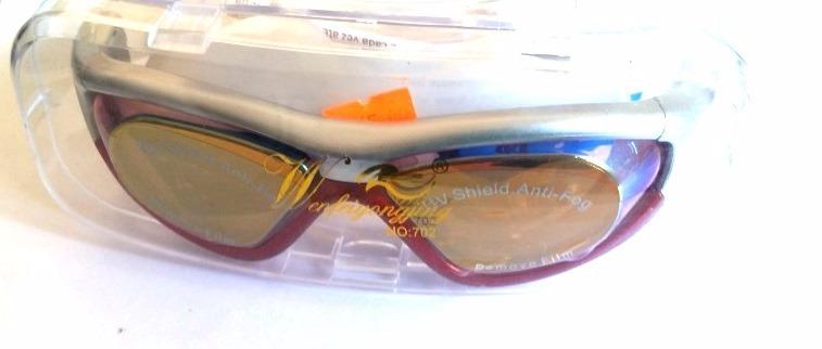 4500fe072 Óculos De Natação Profissional Espelhado Antiembaçante Red - R  59 ...