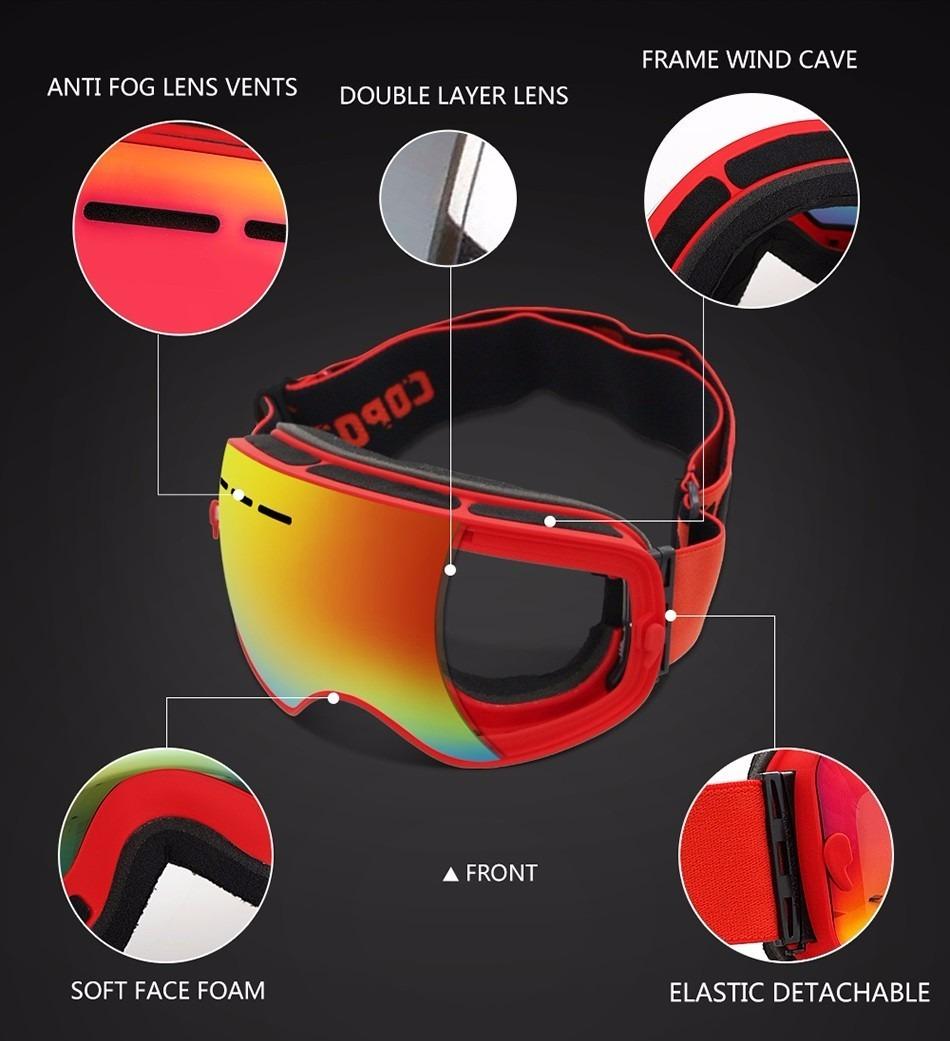 65c0f7e756f00 Óculos De Neve Esqui   Snowboard Uv 400 Marca Profissional - R  257 ...