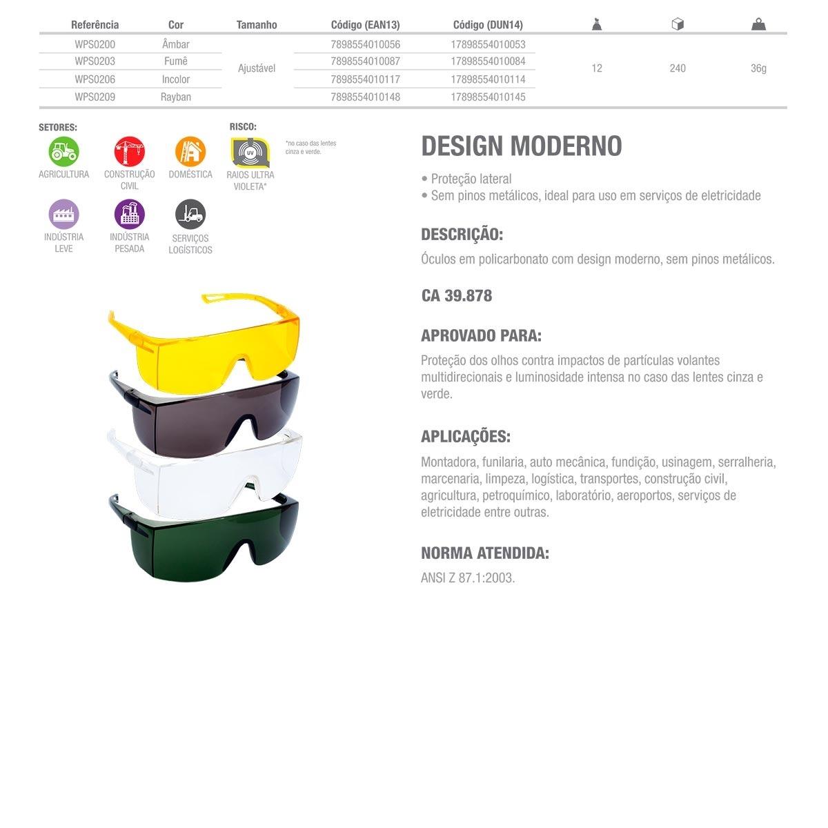 a65a7211b Óculos De Proteção Delta Plus Sky Incolor - Ca 39.878 - R$ 8,58 em Mercado  Livre