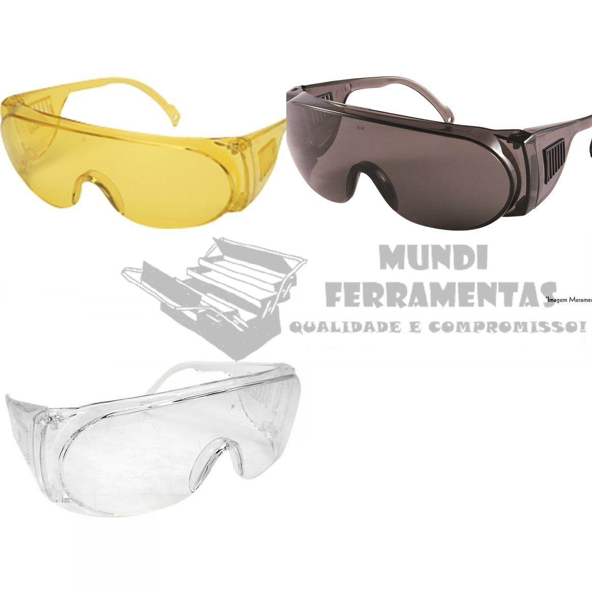 óculos de proteção epi segurança panda incolor fume amarelo. Carregando  zoom. d1fd56c1ed