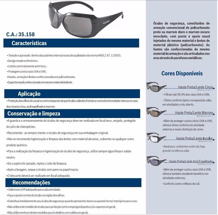Óculos De Proteção Espelhado Epi 400uv - R  55,00 em Mercado Livre 9af999cc5b
