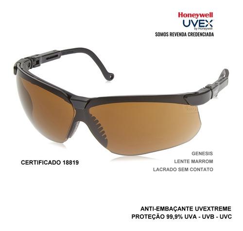 óculos de proteção honeywell uvex genesis antiembaçante