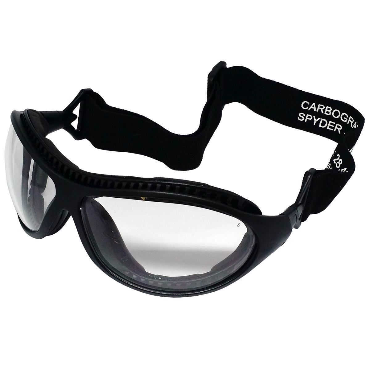 Óculos De Proteção Spyder Carbografite Incolor - R  67,90 em Mercado ... 19c0337a34