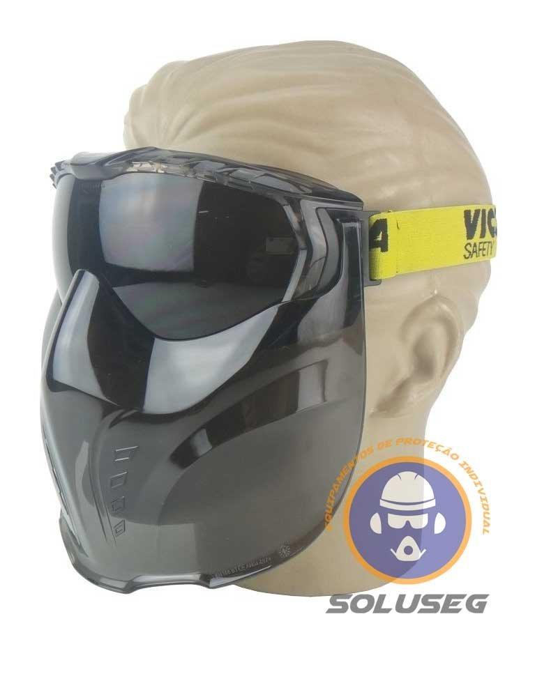 Óculos De Segurança Com Protetor Facial Vicsa V-mask Com Ca - R  48,90 em  Mercado Livre 8ec0355bf7