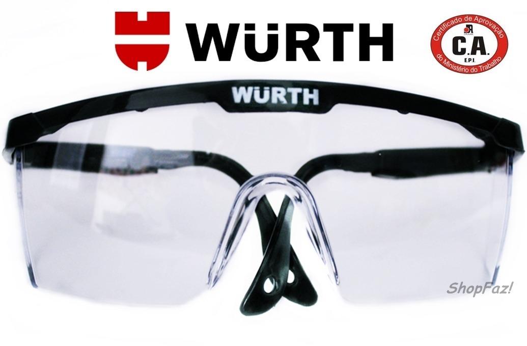 b942f66758d12 Óculos De Segurança Incolor Epi C.a34082 Protege Olhos-wurth - R  17 ...