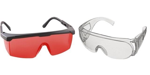 Óculos De Segurança Incolor + Óculos Vermelho P Nível Laser - R  43,60 em  Mercado Livre 8810a3a9eb