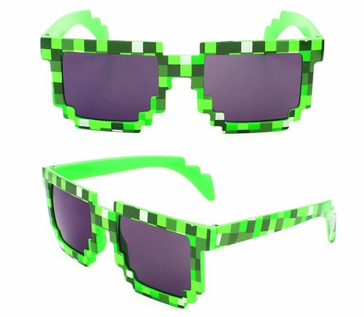 ab9c7953231b0 Óculos De Sol 8 Bits Geek Nerd Pixel Minecraft 4+ - R  19,00 em Mercado  Livre