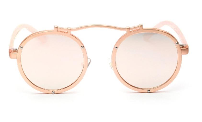 oculos de sol aço redondo circular vintage steampunk retro. Carregando zoom. ea141fb847