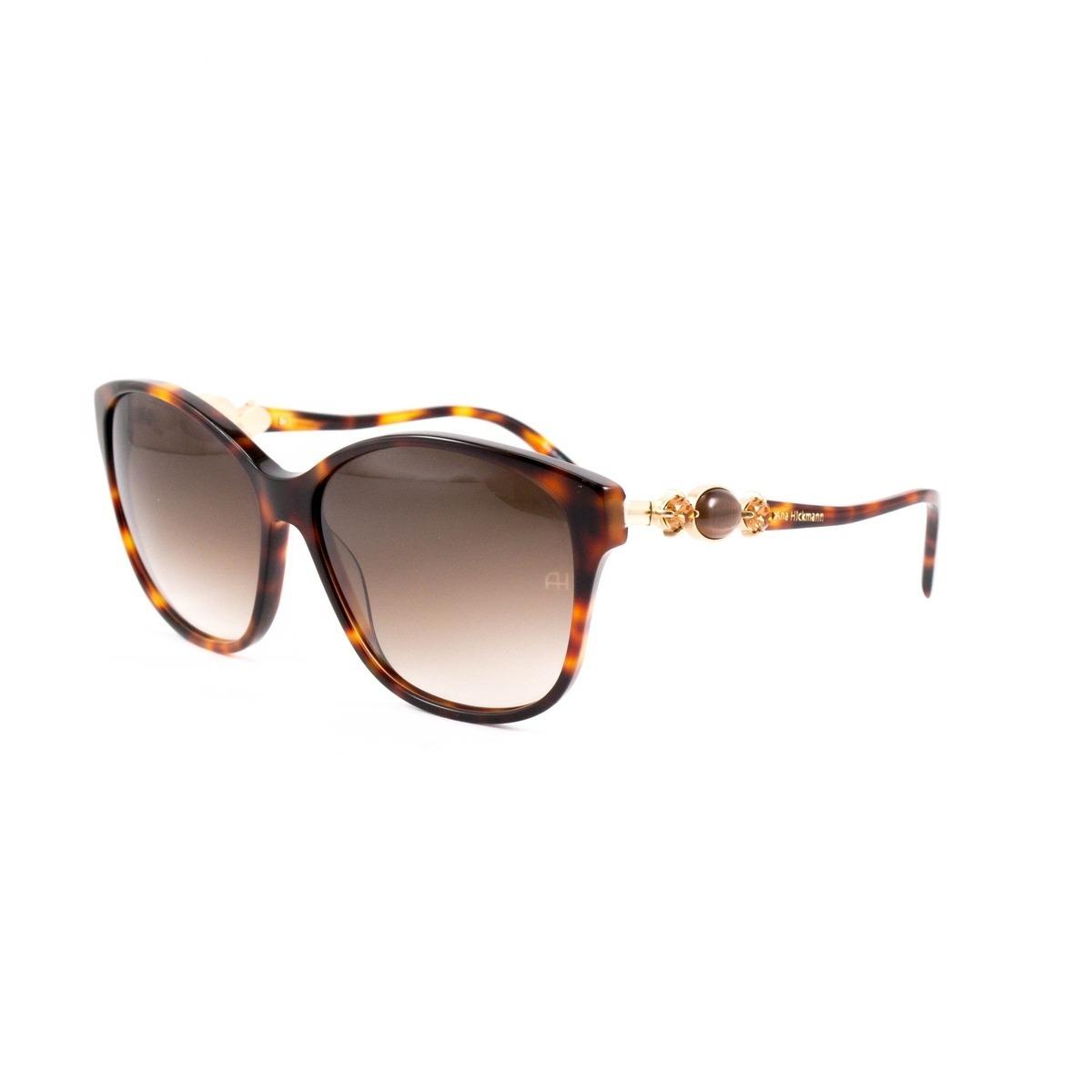 f6144c620c854 óculos de sol ana hickmann - ah9186 g21 - marrom. Carregando zoom.