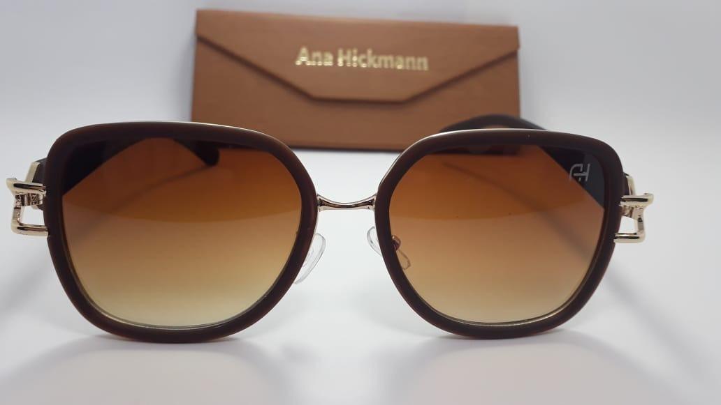 a7378664afb6b Oculos De Sol Ana Hickmann Marrom Luxo Barato Oferta - R  48