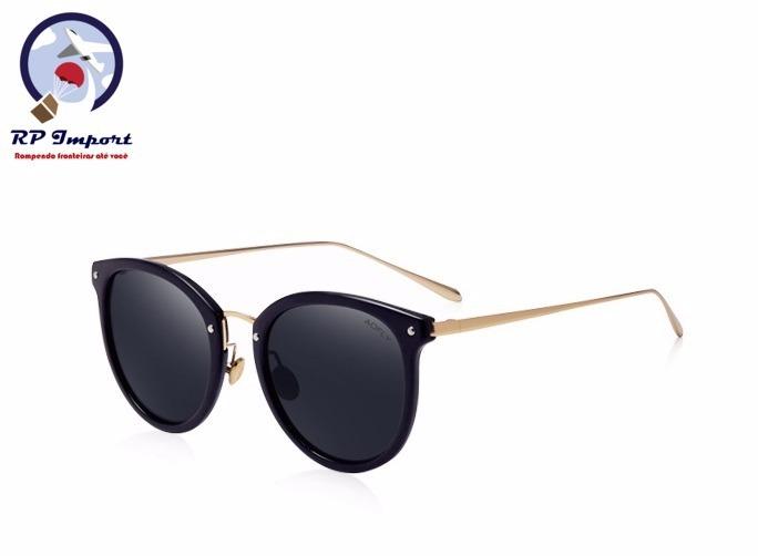 497a55530ba30 Óculos De Sol Aofly Feminino Oval Preto Rosa Com Dourado - R  89,49 ...