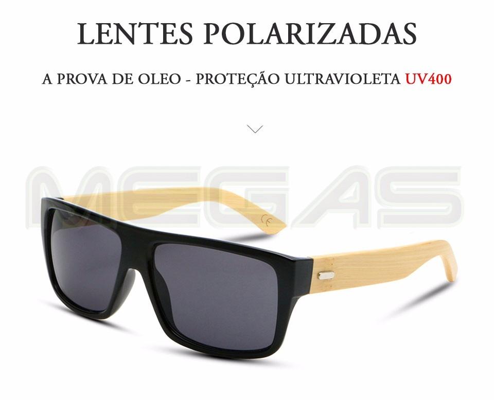 b19ffc341c1ac óculos de sol armação de bambu masculino com proteção uv400. Carregando  zoom.