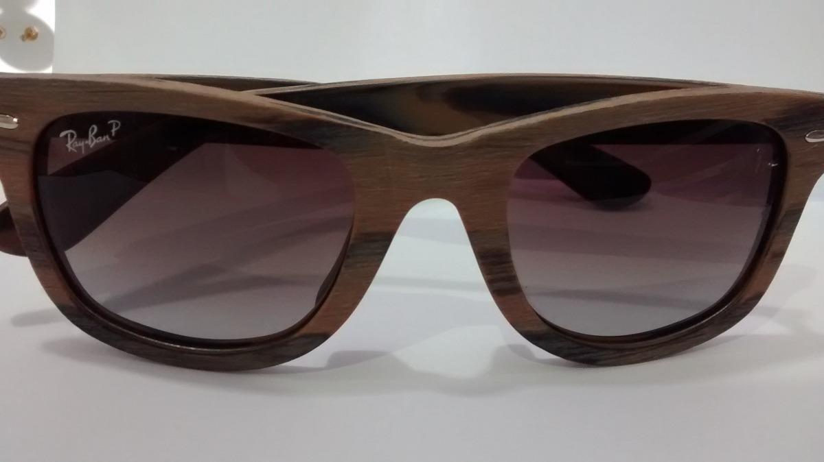 60a3660304185 óculos de sol armação madeira lente marrom degradê. Carregando zoom.