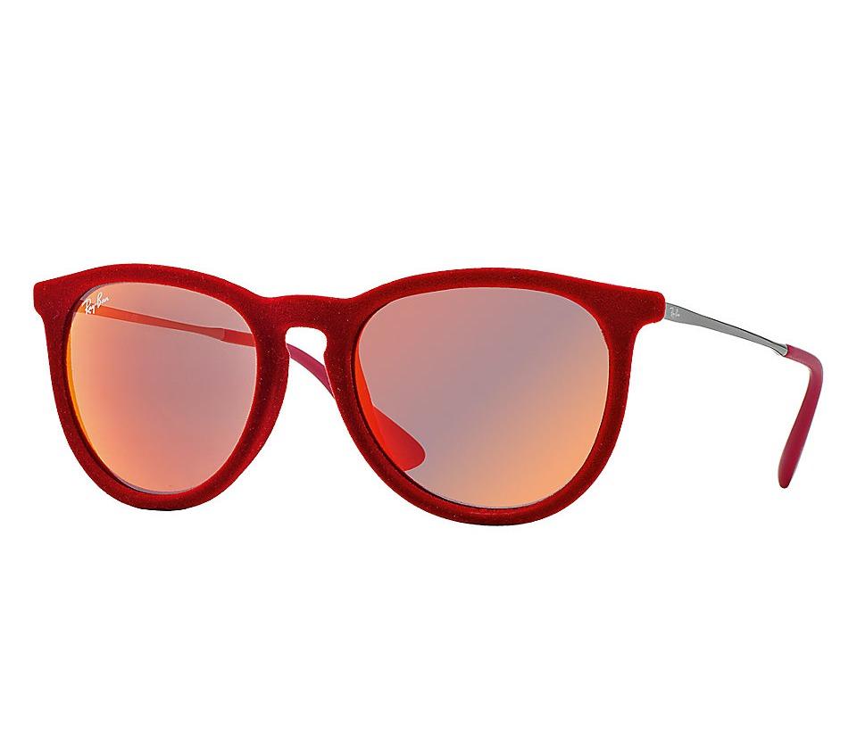116efa028b3fa óculos de sol armação vermelha aveludado lente espelhada. Carregando zoom.