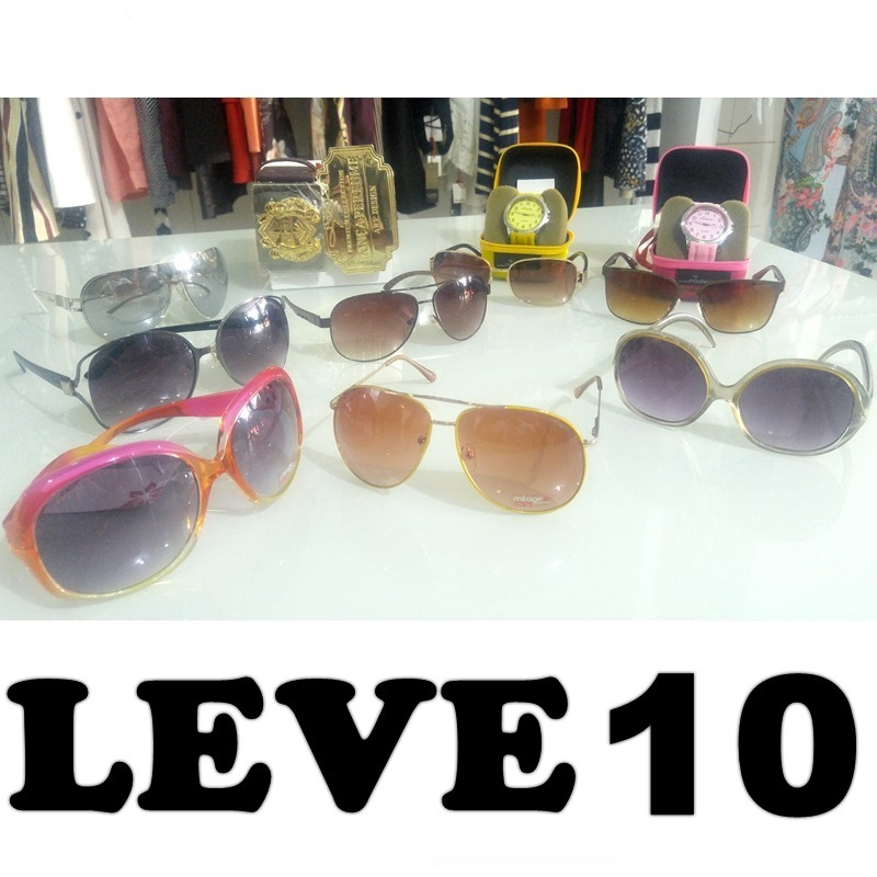 551bb7295bc2f Oculos De Sol Atacado Kit Com 10 Peças Original Envio Jà ,, - R  399 ...
