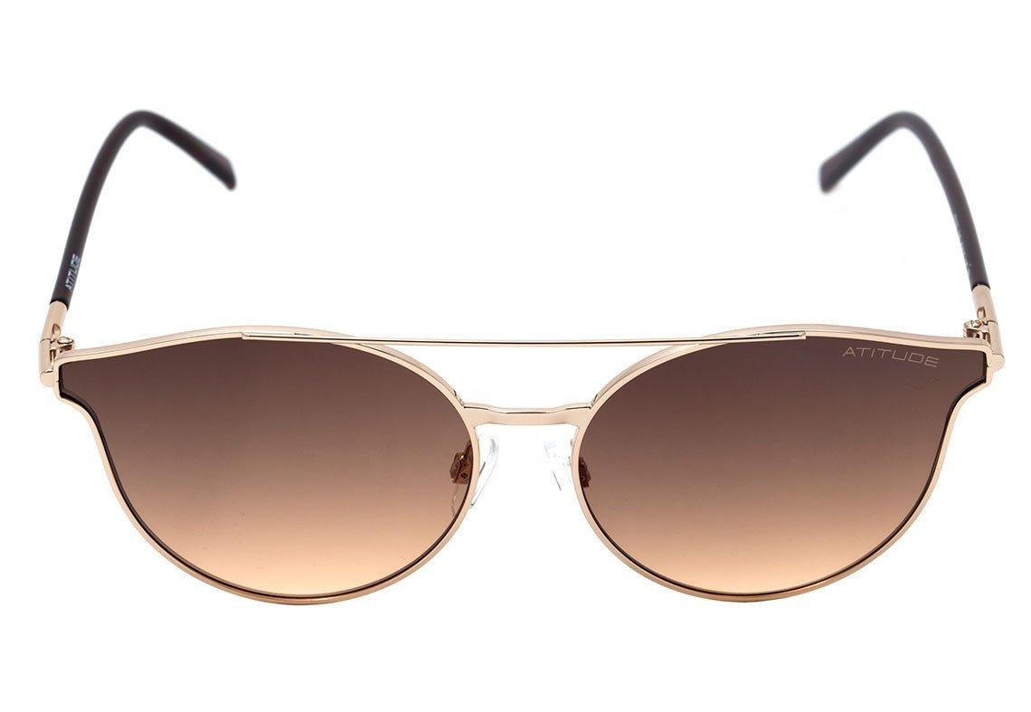 30ff6b4a3 Óculos De Sol Atitude At 3202 04b Dourado E Marrom Brilho 10 - R ...