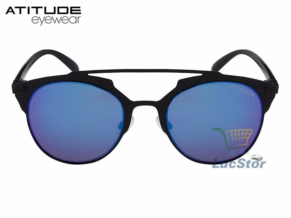 b443271a2 Oculos De Sol Atitude At3174-51-09a Metal Azul Espelhado - R$ 178,99 ...