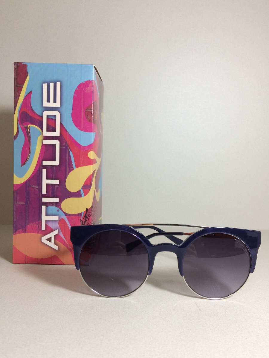 8b4a394ae Óculos De Sol Atitude At3178 T01 51 23 145 3n - R$ 234,00 em Mercado ...