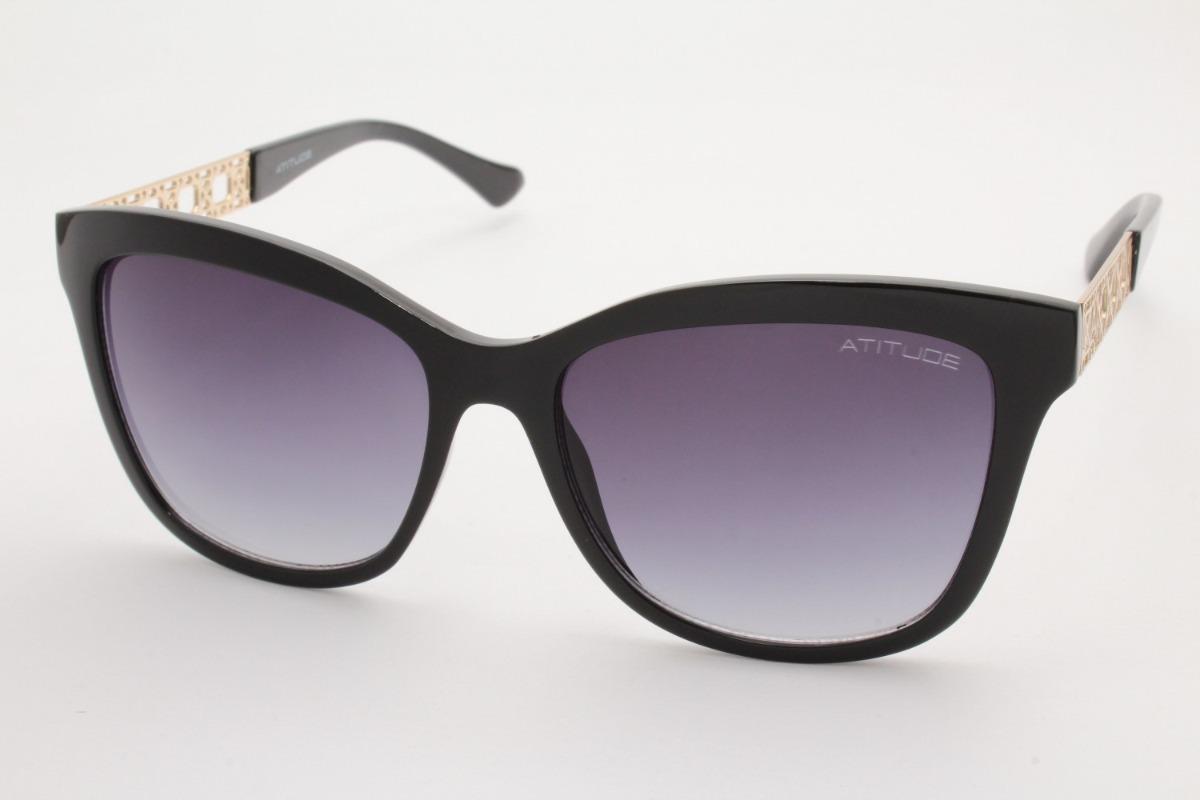 f76435cff87e4 Óculos De Sol Atitude Feminino At5303 A01 - R  217,10 em Mercado Livre