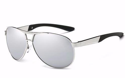 Óculos De Sol Avador Polarizado Uv400 Hdcrafter - Prata§ - R  129,00 ... cb587ece62