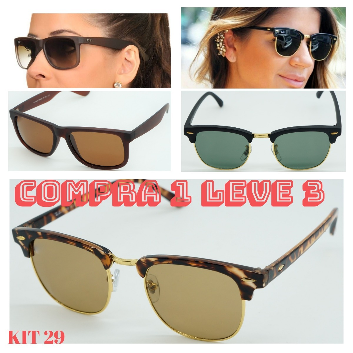2736afad6 óculos de sol aviador erica erika marrom tartaruga feminino. Carregando  zoom.
