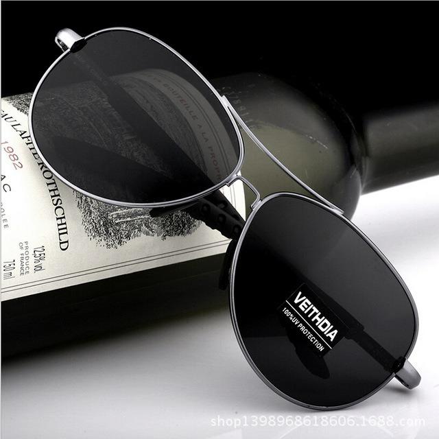 fe58aedee7b3d Óculos De Sol Aviador Escuro Masculino Luxo Proteção Uv 400 - R  120 ...