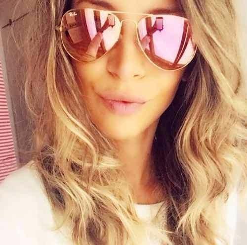 b03a17385f200 Oculos De Sol Aviador Espelhado Feminino Lindo Frete Gratis! - R  89 ...