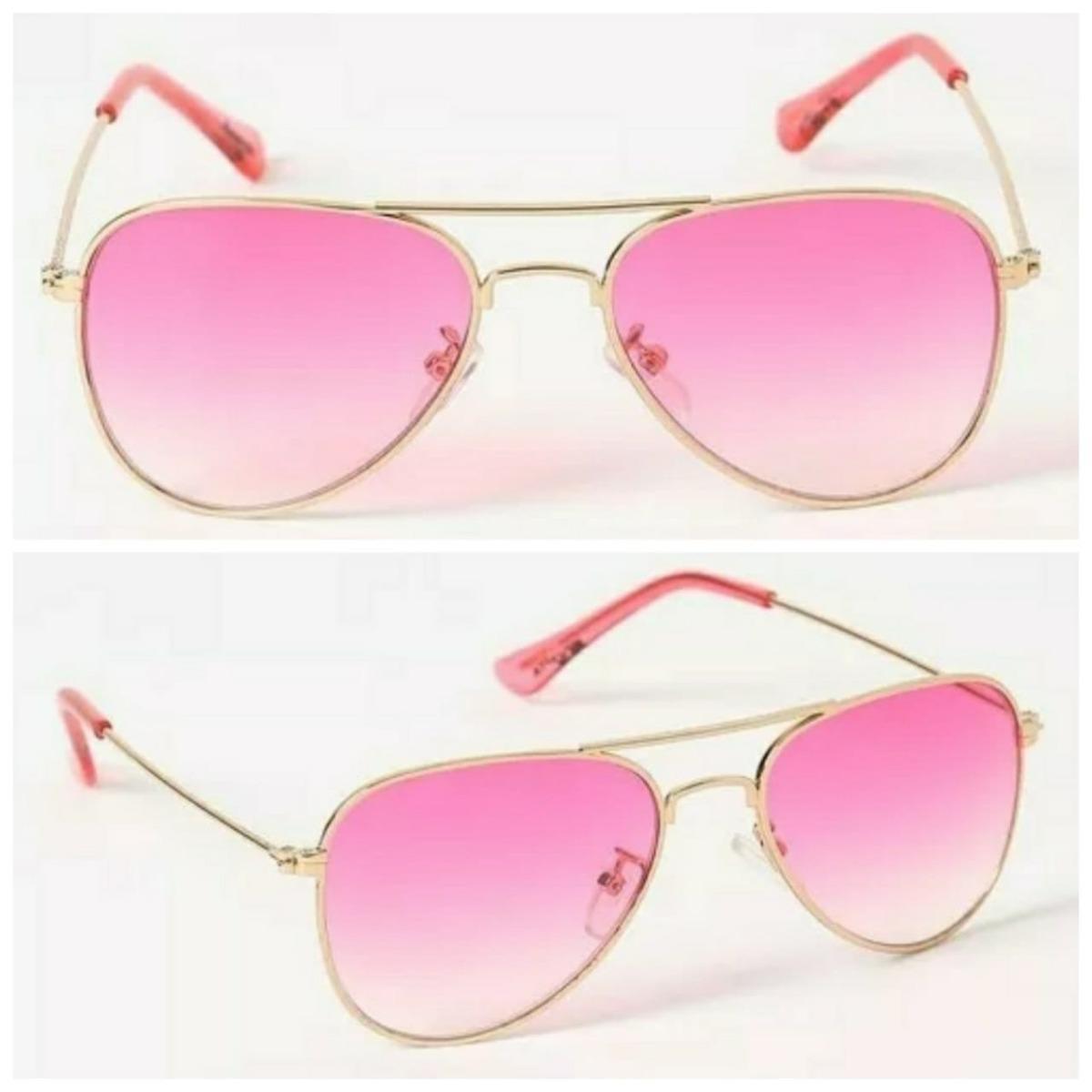 eed12e791 óculos de sol aviador lente rosa menina infantil moda barato. Carregando  zoom.