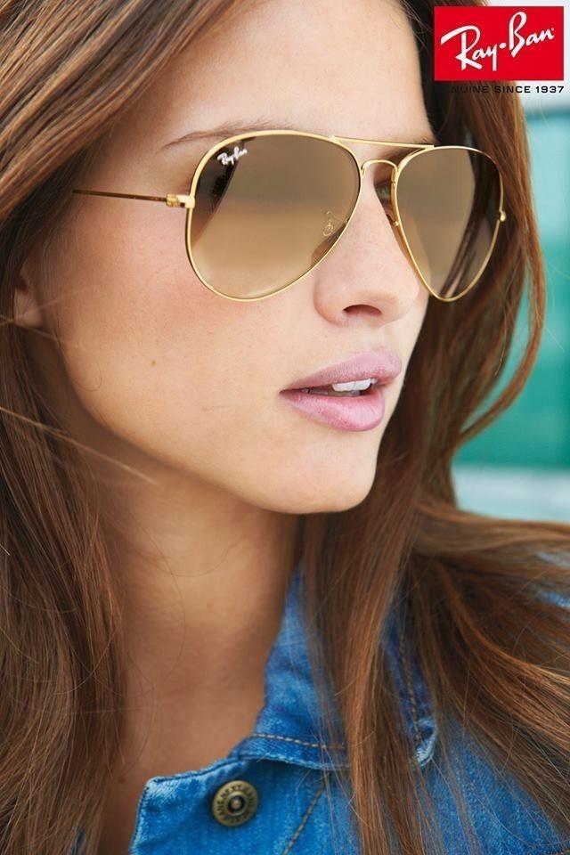 04fb12228 óculos de sol aviador marron ray ban rb3025 100% original. Carregando zoom.