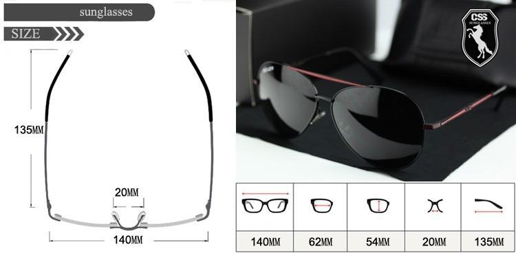 85fe97ec88d88 Óculos De Sol Aviador Masculino Polarizado 100% De Proteção - R  159 ...