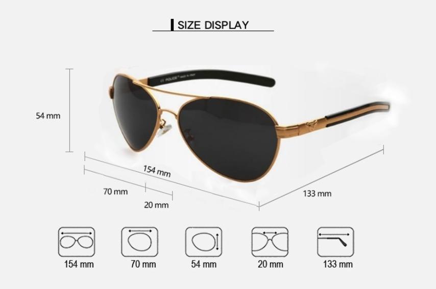 óculos de sol aviador masculino polarizado com 100% uva-uvb. Carregando  zoom. 22646cf3a8