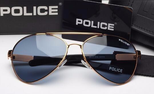 17187db0e64eb Óculos De Sol Aviador Masculino Police Frete Grátis 100% Top - R ...
