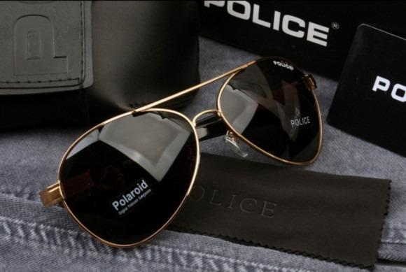 b108f933b5df6 Óculos De Sol Aviador Polarizado Police 100%uvauvb Masculino - R  149