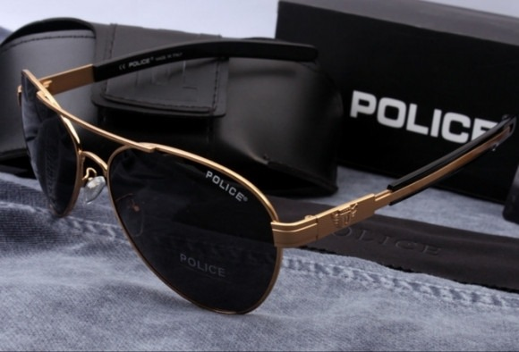 a9c91b85d3e0e Óculos De Sol Aviador Polarizado Police 100%uvauvb Masculino - R ...