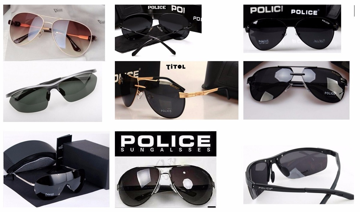 509d04106d1c0 óculos de sol aviador polarizado police preto 100% uva e uvb. Carregando  zoom.