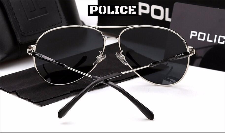 b5db9a77ef39f óculos de sol aviador polarizado prata 100% uva e uvb. Carregando zoom.
